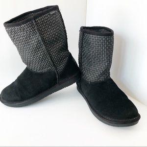 SKECHERS BLACK Metallic Boots Size 8 1/2